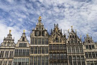 Häuserfront in Antwerpen