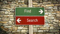 Street Sign Find versus Search