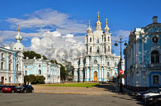 St. Nicholas Cathedral in Saint-Petersburg, Russia.