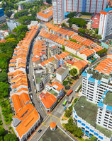 Singapore Chinatown district, aerial view