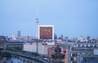 Aerial view of Berlin at night