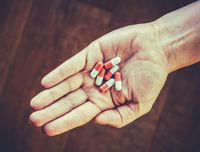 Retro Style Hand With PIlls