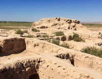 ruins of fortress ancient Khorezm