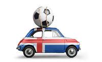 Iceland football car