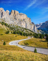 Impressive ridge of dolomite rocks