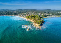 Aerial views of Batemans Bay Australia
