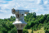 Telescope at an observation point