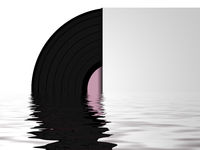 vinyl record with water