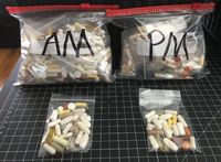 Am and Pm Portions Presciptions Vitamins and Supplements Bags
