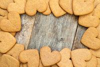 Gingerbread cookies frame