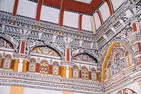 Painting in Durbar Hall, Thanjavur Maratha Palace, Tanjore, Tamil Nadu