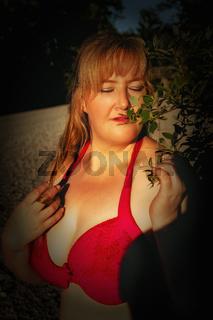 Porträt einer verträumten Frau