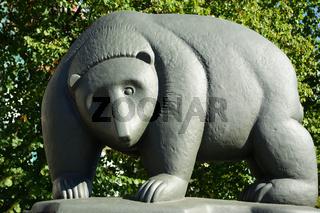 Berlin Bear on Bridge