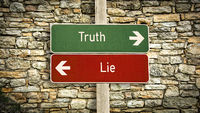 Street Sign to Truth versus Lie