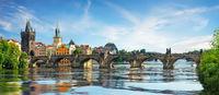 Charles bridge on Vltava