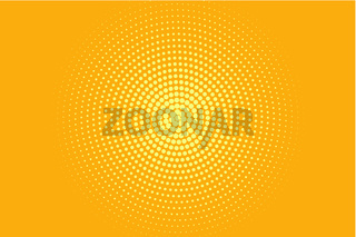 Abstract halftone pattern. Futuristic panel.  Yellow and orange color