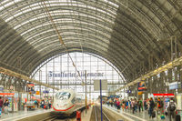Modern train interior Frankfurt  station