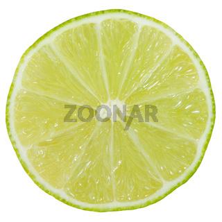 Limette Limone Frucht geschnitten Hälfte Freisteller freigestellt isoliert