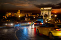 Budavari palace and Chain bridge