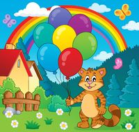 Happy party cat theme image 2