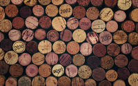 Close up background of used wine corks