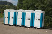 Toilets installed at a public event