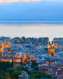 Thessaloniki at dusk. Greece