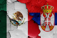 flags of Mexico and Serbia