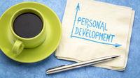 personal development handwriting on a napkin
