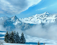 Winter mountain landscape, Austria, Bavaria
