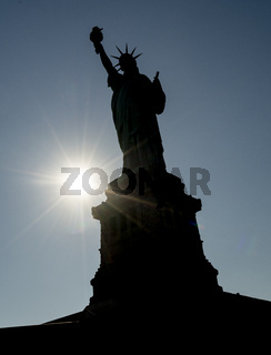 Statue of Liberty Stands Welcoming Seafarers to the New York Harbor