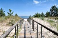Strandzugang in Ahlbeck auf der Insel Usedom,Ostsee,Mecklenburg-Vorpommern,Deutchland