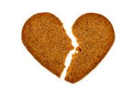 Broken gingerbread heart