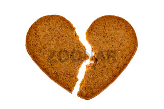 Broken gingerbread heart