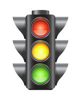 Realistic vector traffic lights for cars isolated