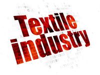 Manufacuring concept: Textile Industry on Digital background