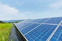 solar energy closeup on hillside