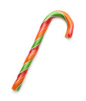 Traditional colorful striped candy cane