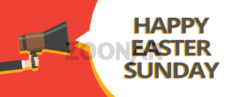Word writing text Happy Easter Sunday. Business concept for Greeting someone about holidays Spring is coming Multiple lines text give notice messages think idea recall announcement.