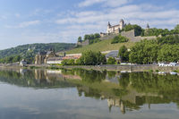 River Main with castle Marienberg