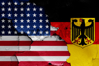 flags of USA and West Germany