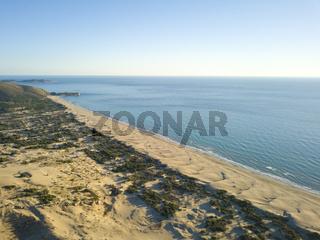 Aerial View Sand Dune Mountain Patara Beach