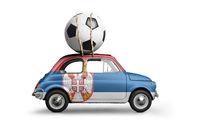 Serbia football car