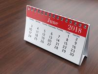 3D rendering calendar