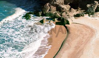 beautiful wild beaches with rocks
