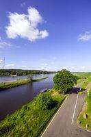 Elbe bei Lenzen, Brandenburg, Deutschland