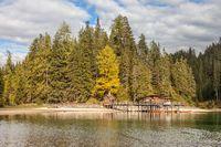 Lake Braies in autumn