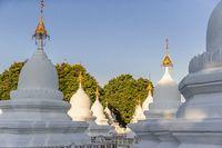 Kuthodaw pagoda in Mandalay, Burma Myanmar