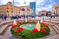Zagreb main square advent view