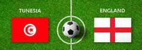 Football match Tunesia vs. England